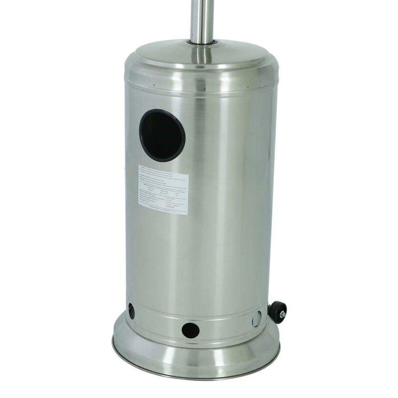 Parasol chauffant gaz chauffage d 39 ext rieur mobeventpro - Parasol chauffant inox ...