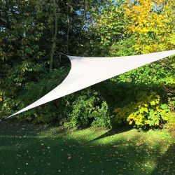 Voile d'ombrage Blanche triangulaire extensible 3,60m