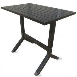 Table terrasse haute et 4 tabourets en métal
