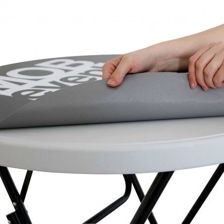 Sticker publicitaire pour mange-debout pliant 110x80 cm