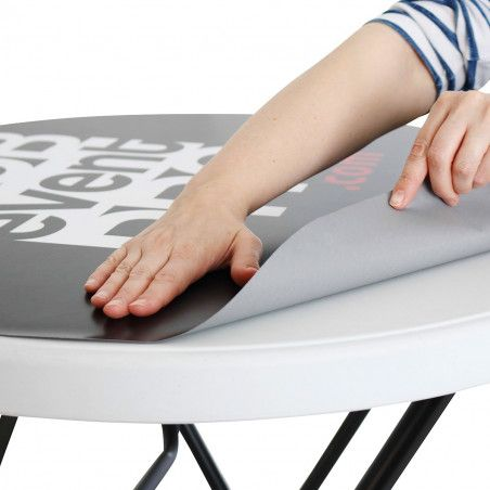 Sticker amovible pour mange-debout pliant mobeventpro