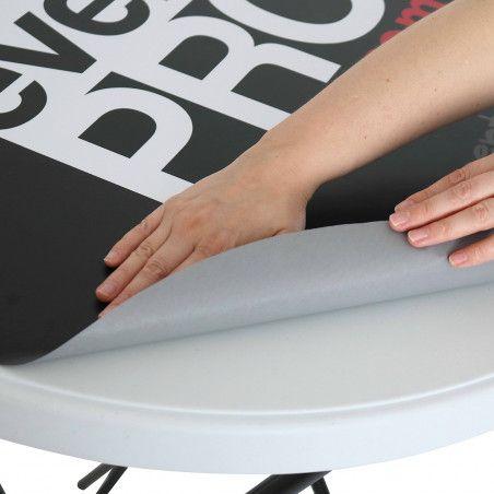 Sticker personalisable pour mange-debout pliant mobeventpro