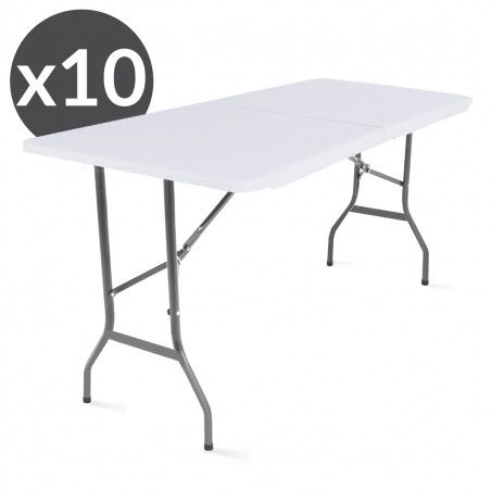 10 tables pliantes 180 x 70 x 74 cm ECO