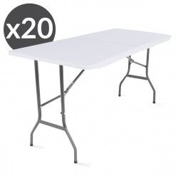 Lot de 20 tables pliantes 180 x 70 x 74 cm ECO