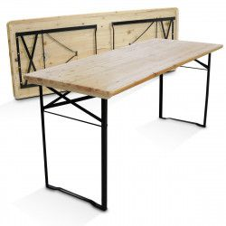 Table pliante en bois 8 places 180cm