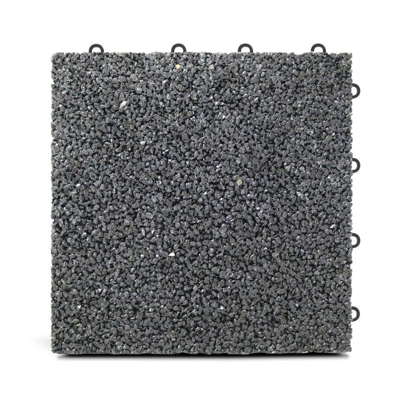 Dalle de terrasse en gravillon noir