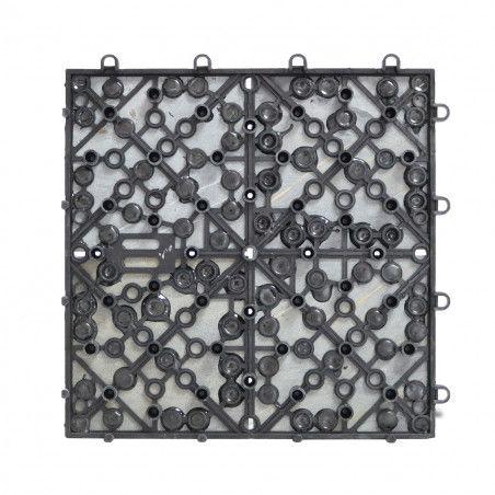 Dalle de terrasse pierre noire 4 carreaux
