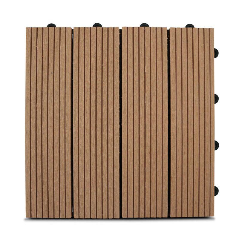 Dalle de terrasse bois composite