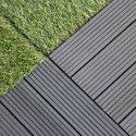 Dalle de terrasse grise en bois composite