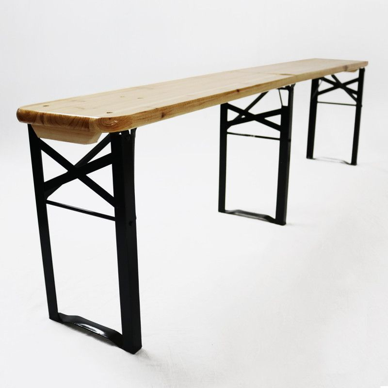 Table Brasserie Pliante Bois Bancs