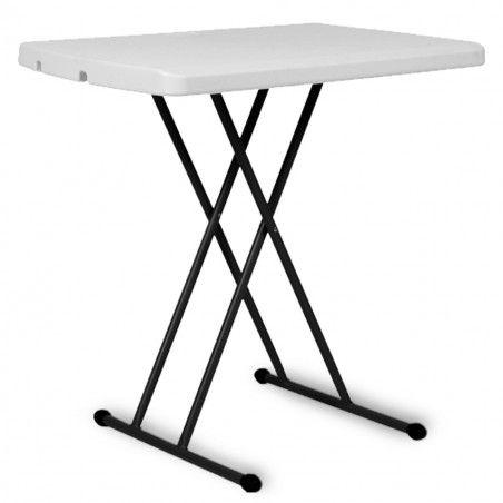 Table pliante ajustable en PEHD