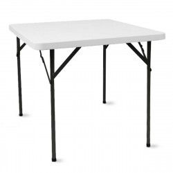 Table pliante carrée 86cm monobloc PEHD