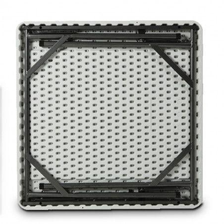 Table pliante carrée 86cm monobloc PEHD Professionnelle