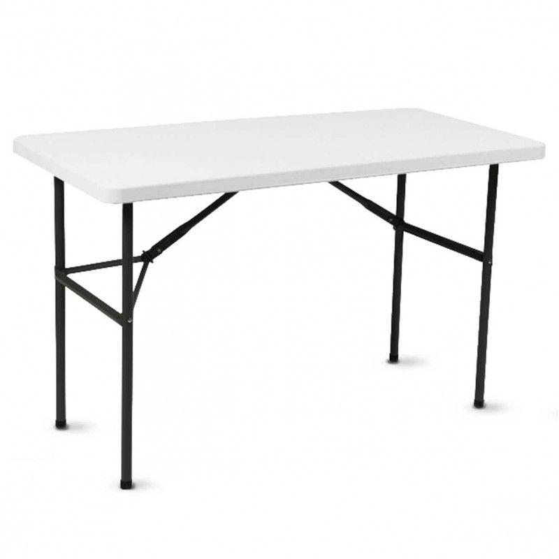 Table pliante 121x61cm monobloc PEHD