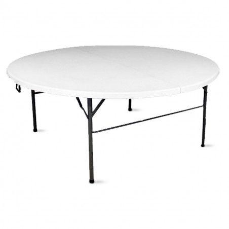 Table pliante ronde ⌀180cm PEHD