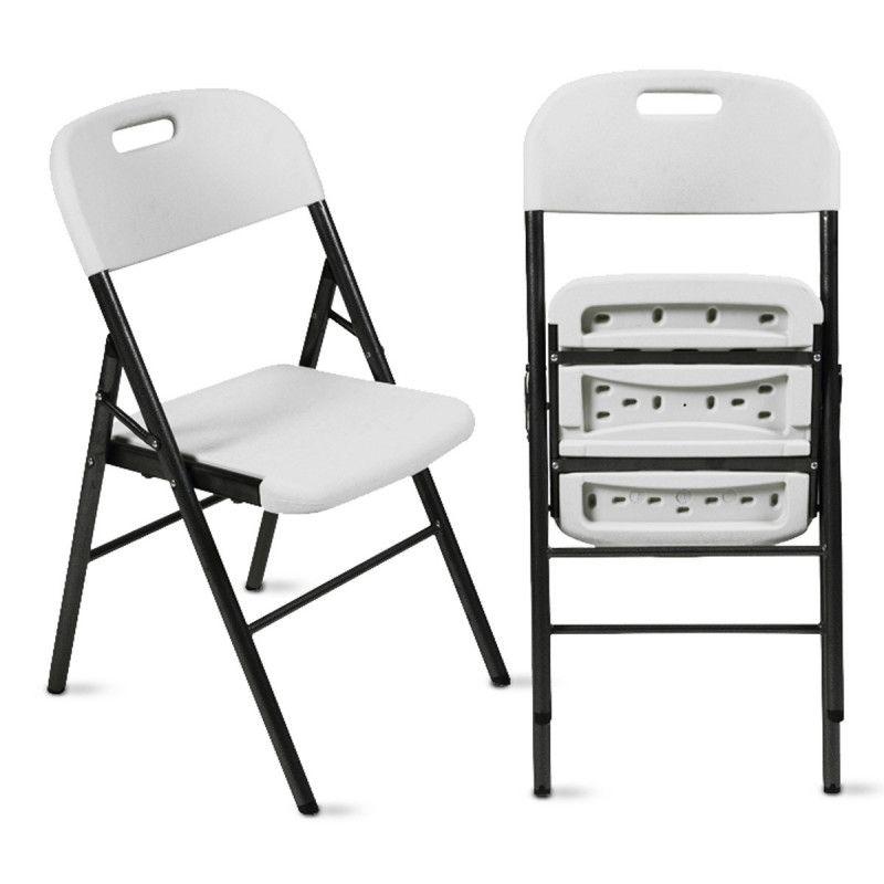 Lot de 4 chaises pliantes en PEHD