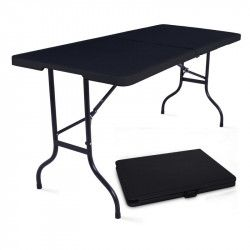 Tables pliantes noires 180cm - lot de 5