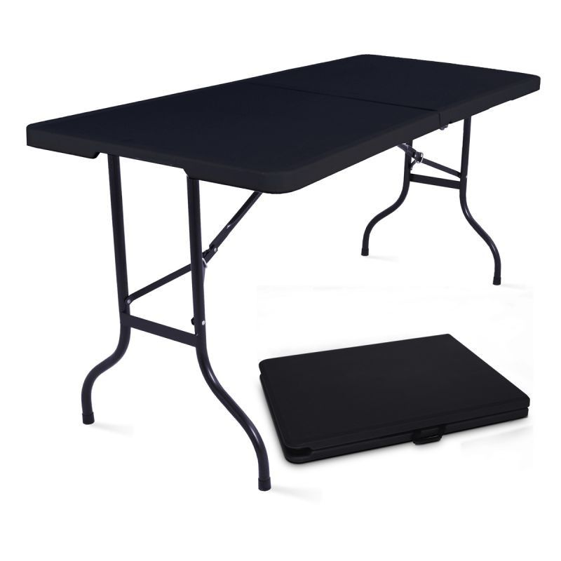 Tables pliantes noires 180cm - lot de 10