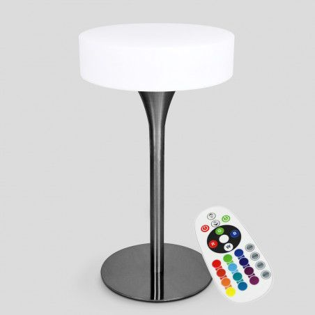Table de bar lumineuse LED sans fil multicolore étanche 60x106 cm