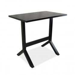 Table de terrasse haute en aluminium noir