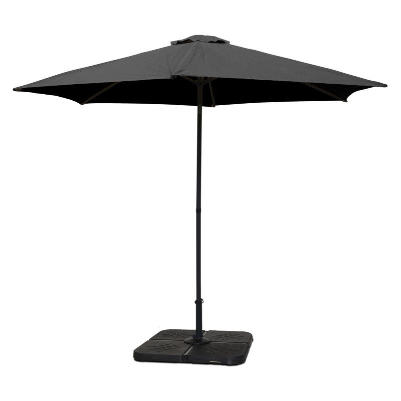 Parasol droit inclinable 3 m gris