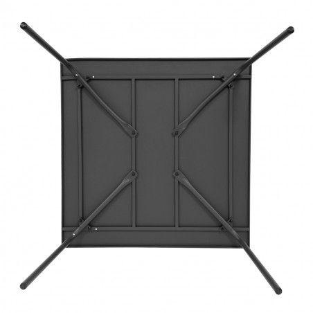 Table de terrasse carrée en métal gris 8 places