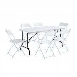 Ensemble table et chaises pliantes 162cm 6 places PEHD