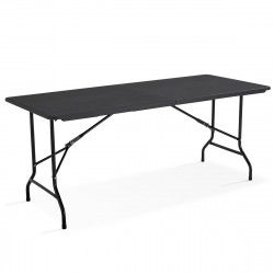 Table pliante rectangulaire noire 180cm 8 places | MOBEVENTPRO