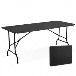 Table pliante noire 180cm 8 places PEHD