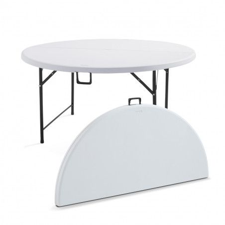 Table pliante ronde 150cm 8 places PEHD