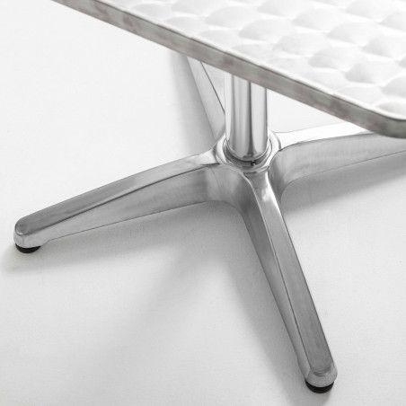 Table de terrasse carrée en aluminium 70 x70cm