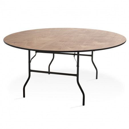Table pliante ronde en bois 10 places 170cm