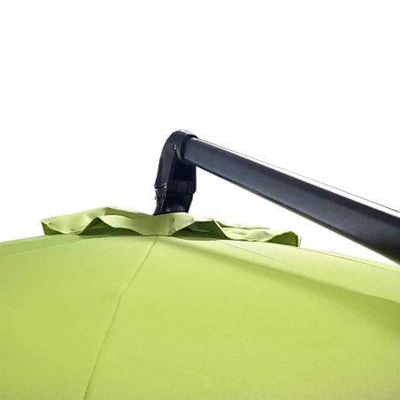 Parasol déporté rond PRO+  3m inclinable et rotatif 360° vert