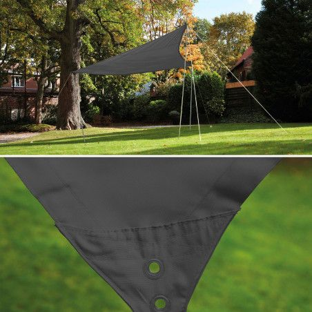 Voile d'ombrage triangulaire grise