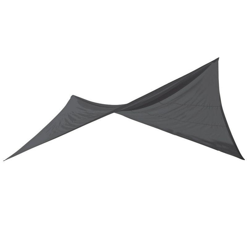 Voile d'ombrage carrée 4,8m gris