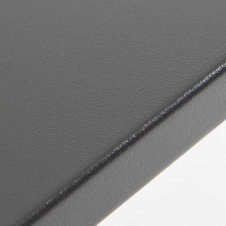 Table de terrasse grise en métal 8 places