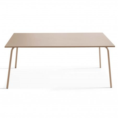 Table Terrasse taupe Metal