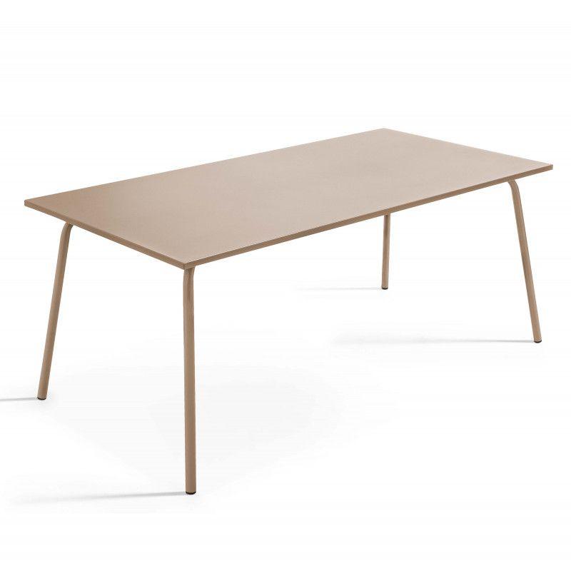 Table Terrasse taupe Metal design PALAVAS