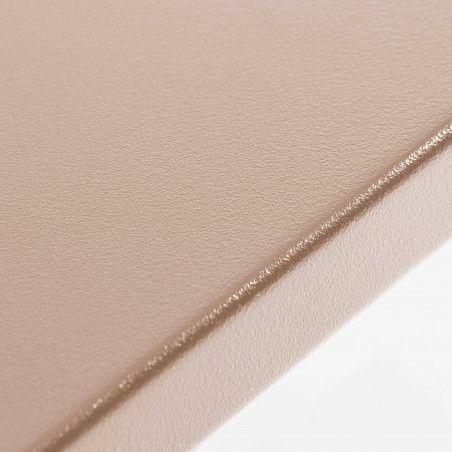 Table de terrasse taupe en métal 8 places