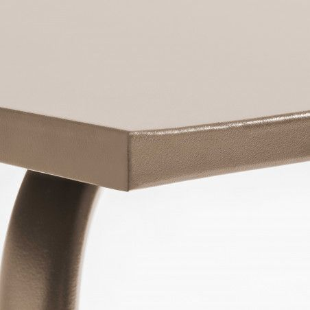 Zoom Table Terrasse taupe Metal
