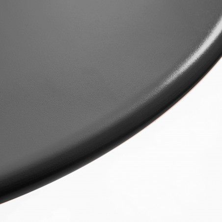 Table de terrasse ronde grise 6 places