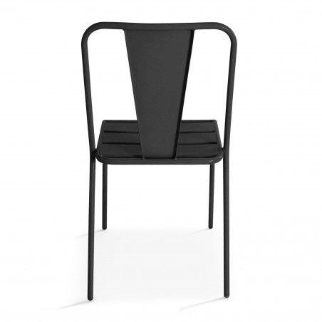 Chaise extérieure grise en métal DIEPPE