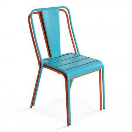 Chaise bistrot empilable en métal