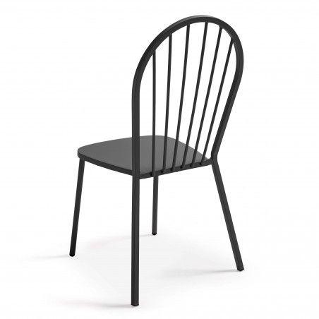 Chaise de terrasse rétro grise