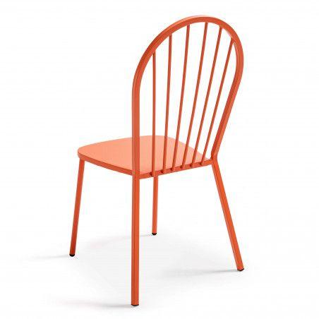 Chaise de terrasse rétro orange