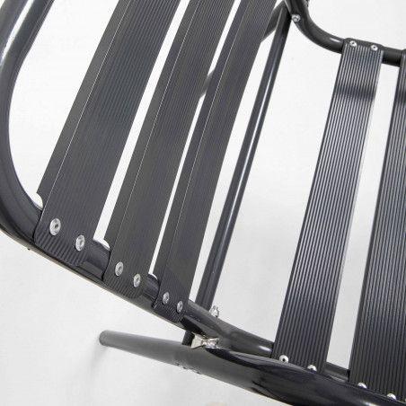 Fauteuil de terrasse hôtel aluminium gris foncé