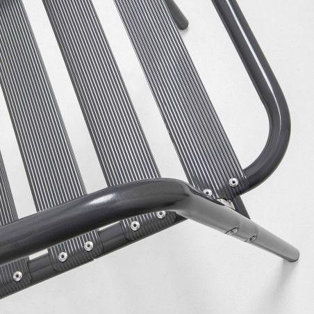 Chaise terrasse café alu gris
