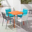Table métal Palavas et 4 chaises plusieurs coloris