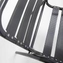 Chaise de terrasse en alu gris anthracite avec accoudoirs