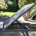Transat gris en aluminium terrasse hôtel
